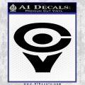 Cerwin Vega CV Decal Sticker Black Vinyl 120x120