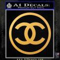 Chanel CR1 Decal Sticker Gold Vinyl 120x120