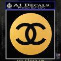 Chanel CR2 Decal Sticker Gold Vinyl 120x120