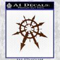 Chaos Symbol Anarchy D2 Decal Sticker BROWN Vinyl 120x120