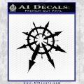 Chaos Symbol Anarchy D2 Decal Sticker Black Vinyl 120x120