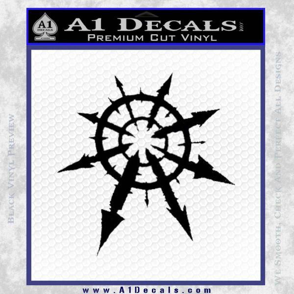 Chaos Symbol Anarchy D2 Decal Sticker Black Vinyl
