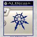 Chaos Symbol Anarchy D2 Decal Sticker Blue Vinyl 120x120