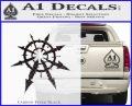 Chaos Symbol Anarchy D2 Decal Sticker Carbon FIber Black Vinyl 120x97