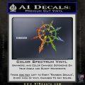 Chaos Symbol Anarchy D2 Decal Sticker Glitter Sparkle 120x120