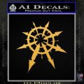 Chaos Symbol Anarchy D2 Decal Sticker Gold Vinyl 120x120