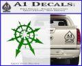 Chaos Symbol Anarchy D2 Decal Sticker Green Vinyl Logo 120x97