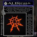 Chaos Symbol Anarchy D2 Decal Sticker Orange Emblem 120x120