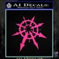 Chaos Symbol Anarchy D2 Decal Sticker Pink Hot Vinyl 120x120