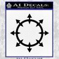 Chaos Symbol Wheel Decal Sticker Black Vinyl 120x120