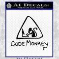 Code Monkey Css Java Html D1 Decal Sticker Black Vinyl 120x120