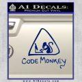 Code Monkey Css Java Html D1 Decal Sticker Blue Vinyl 120x120