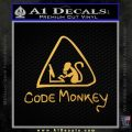 Code Monkey Css Java Html D1 Decal Sticker Gold Vinyl 120x120
