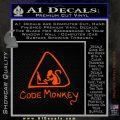 Code Monkey Css Java Html D1 Decal Sticker Orange Emblem 120x120