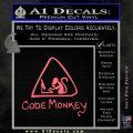 Code Monkey Css Java Html D1 Decal Sticker Pink Emblem 120x120