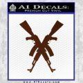Crossed Ak 47s D1 Decal Sticker BROWN Vinyl 120x120