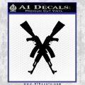 Crossed Ak 47s D1 Decal Sticker Black Vinyl 120x120