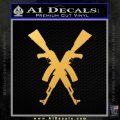 Crossed Ak 47s D1 Decal Sticker Gold Vinyl 120x120