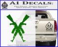 Crossed Ak 47s D1 Decal Sticker Green Vinyl Logo 120x97