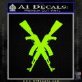 Crossed Ak 47s D1 Decal Sticker Lime Green Vinyl 120x120