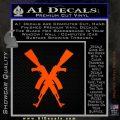 Crossed Ak 47s D1 Decal Sticker Orange Emblem 120x120