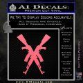 Crossed Ak 47s D1 Decal Sticker Pink Emblem 120x120