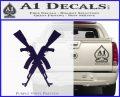 Crossed Ak 47s D1 Decal Sticker PurpleEmblem Logo 120x97