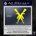 Crossed Ak 47s D1 Decal Sticker Yellow Laptop 120x120