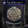 D20 Die Decal Sticker DD Dungeons and Dragons 1 120x120