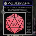 D20 Die Decal Sticker DD Dungeons and Dragons 10 120x120