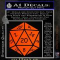 D20 Die Decal Sticker DD Dungeons and Dragons 11 120x120