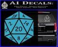 D20 Die Decal Sticker DD Dungeons and Dragons 12 120x97