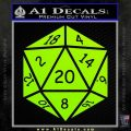 D20 Die Decal Sticker DD Dungeons and Dragons 13 120x120