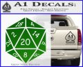 D20 Die Decal Sticker DD Dungeons and Dragons 14 120x97
