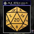 D20 Die Decal Sticker DD Dungeons and Dragons 15 120x120