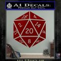 D20 Die Decal Sticker DD Dungeons and Dragons 16 120x120