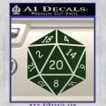 D20 Die Decal Sticker DD Dungeons and Dragons 17 120x120