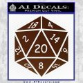 D20 Die Decal Sticker DD Dungeons and Dragons 19 120x120