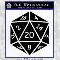 D20 Die Decal Sticker DD Dungeons and Dragons 21 120x120