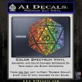 D20 Die Decal Sticker DD Dungeons and Dragons 4 120x120