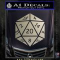 D20 Die Decal Sticker DD Dungeons and Dragons 6 120x120