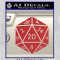 D20 Die Decal Sticker DD Dungeons and Dragons 7 120x120