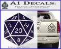 D20 Die Decal Sticker DD Dungeons and Dragons 8 120x97
