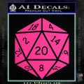 D20 Die Decal Sticker DD Dungeons and Dragons 9 120x120