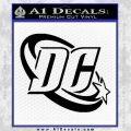 DC Comics Logo Decal Sticker Black Vinyl 120x120