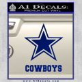 Dallas Cowboys Text Decal Sticker Blue Vinyl 120x120