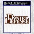 Daniel Defense D2 Decal Sticker BROWN Vinyl 120x120
