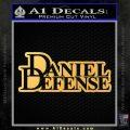 Daniel Defense D2 Decal Sticker Gold Vinyl 120x120