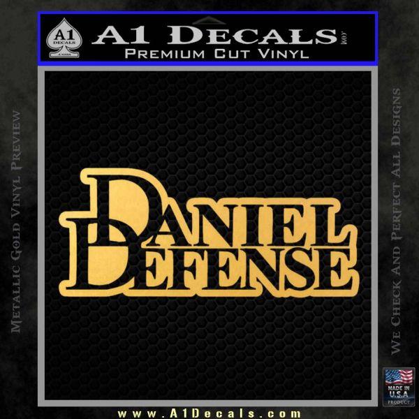 Daniel Defense D2 Decal Sticker Gold Vinyl