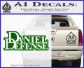 Daniel Defense D2 Decal Sticker Green Vinyl Logo 120x97